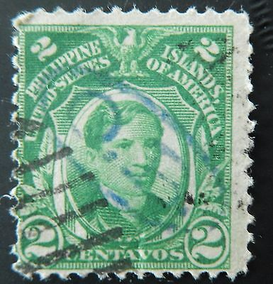 Philippines stamp Hand stamp Diagonal O.B. used hinged
