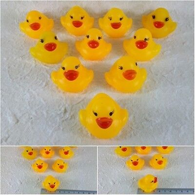 BATH TOYS GREAT QUALITY PLASTIC BABY CHIDREN KID  YELLOW RUBBER 10 DUCKY NOISE