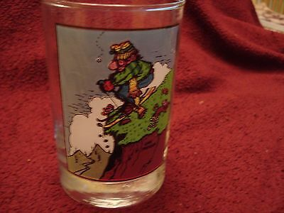 """Arby's Collector Series Glass Thought Factory Gary Patterson """"First Flake"""" 1982"""