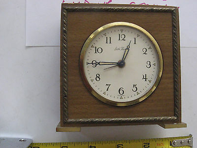 Seth Thomas Wind Up small Table or Mantle Clock in wood case made in Germany