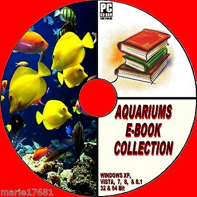 Aquarium Book Collection 10 Great Titles On Cdrom Cold Water Tropical Marine New