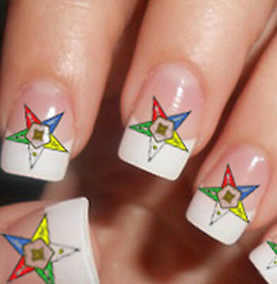 45 ORDER of EASTERN STAR Nail Art Decals (OE1) Waterslide Transfer Stickers OES