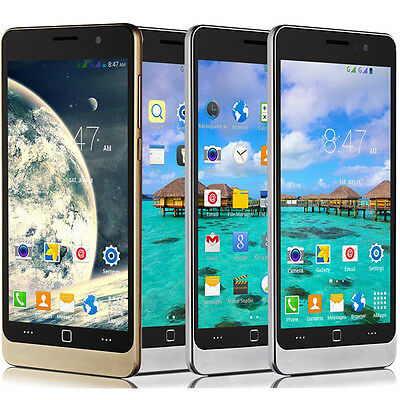 5'' Unlocked Quad Cores Android4.4 Smartphone 3G/GSM/WCDMA Cell Phone GPS QHD