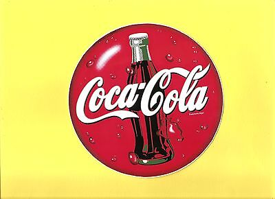 KING SIZE COKE STICKER  6 1/2  INCHES ROUND *FREE SHIPPING*