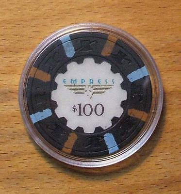 $100 Empress Casino Chips-Joliet, Illinois-Primary Chip-Shipping Discounts