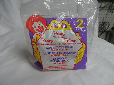 McDonalds Happy Meal Toy Disney Lady And The Tramp Mobile Figurine NIB