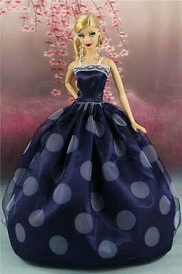 Fashion Princess Party Dress/Wedding Clothes/Gown For Barbie Doll y28P8