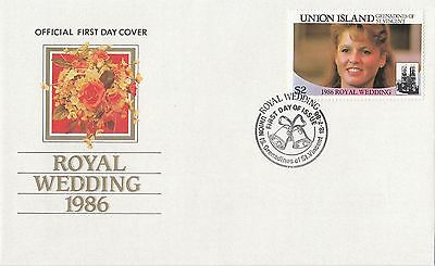(42252) St Vincent Union Island FDC  Fergie Andrew Royal Wedding 18 July 1986