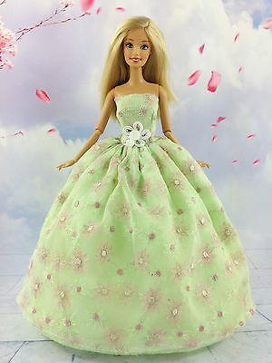 Light Green Fashion Princess Party Dress Clothes/Gown For Barbie Doll S29P8