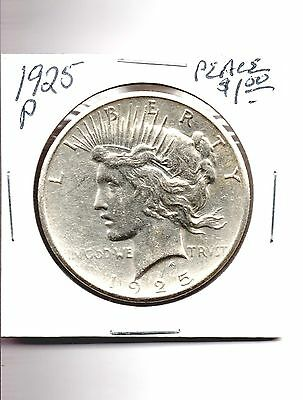 1925-P PEACE 90% SILVER DOLLAR BEAUTIFUL COIN SEE PICTURES AU BU YOU CHOOSE