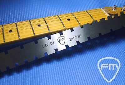 "NOTCHED STRAIGHT EDGE for Strat Tele Les Paul Sg Guitar Neck TOOL 24.75""/25.50"""
