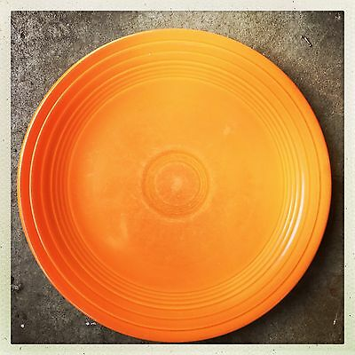 VINTAGE FIESTA WARE HOMER LAUGHLIN RED ORANGE  Radioactive Plate 9.5""