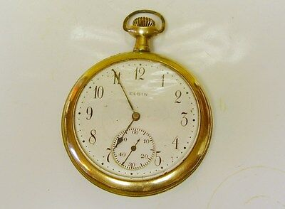ANTIQUE ELGIN POCKET WATCH, DOSENT WORK, FOR PARTS/ REPAIR, 17 JEWEL, NO RES