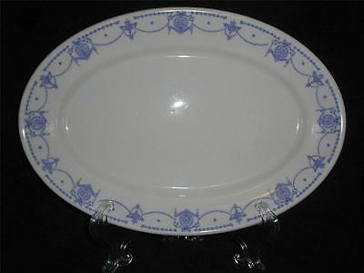 "Blue Syracuse ""Adam"" Platter  Denver & Rio Grande Railroad China"