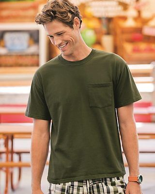 Fruit of the Loom Heavy Cotton HD T-Shirt w/ Left Chest Pocket 3930PR 2XL Green