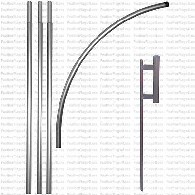 WINDLESS POLE & GROUND SPIKE - for swooper feather flag kit full sleeve
