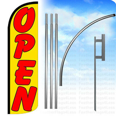 WINDLESS Swooper Feather Full Sleeve Banner Sign Flag KIT - OPEN yq