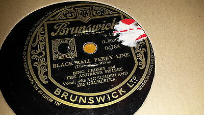 BING CROSBY & THE ANDREWS SISTERS BLACK CALL FERRY LANE BRUNSWICK 04764