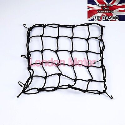 Premium Quality Cargo Elastic Net Motorcycle Baggage Carrier 6 Hooks E101-Blk