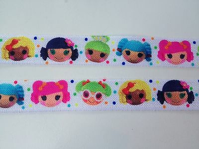 5 Yards Lalaloopsy Sew Doll FOE Elastic 5/8 inch 16mm Hair ties party favors