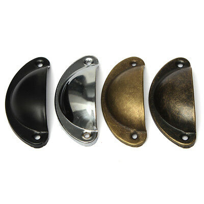 4 Colors Antique Cupboard Door Cabinet Knob Drawer Furniture Shell Pull Handle
