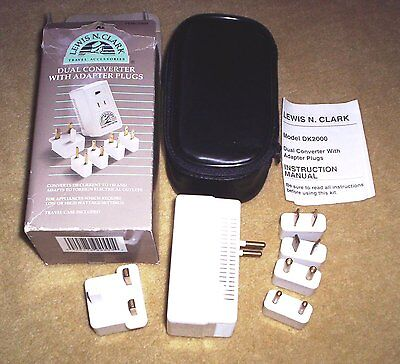 LEWIS N. CLARK Dual Converter with Adapter Plugs Model DK2000 Travel Accessory