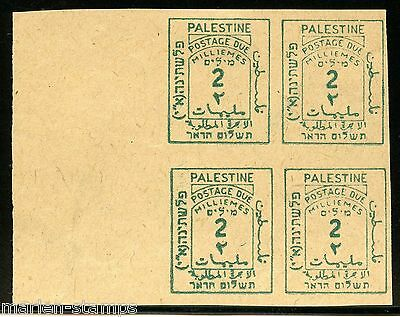 PALESTINE SCOTT#J2 SG#D2a IMPERFORATED BLOCK MINT HINGED