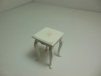 Dollhouse Miniatures Furniture  30028wt Flower Motif Side Stand