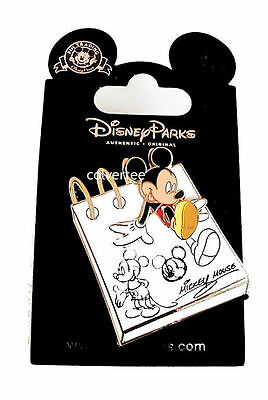Disney Pin  3 Dimensional Mickey Mouse on Sketch Pad Very Nice New on Card