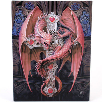 Fantasy Gothic Art Canvas Wall Plaque~Gothic Guardian~ Anne Stokes~J~uk seller