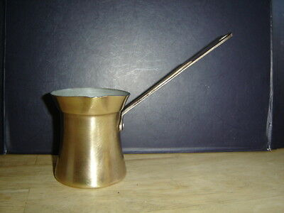 Vintage Brass Ladle Dipper Melting Pot - tin lined 3/4 to 1 cup capacity