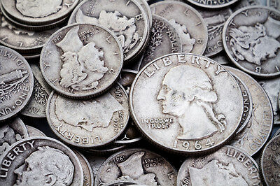 1 OZ. 90% Silver U.S. Coin Lot - Half Dollars, Quarters or Dimes - Free Shipping