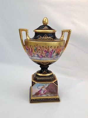 Antique Austrian Porcelain Urn Circa 1800'S