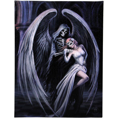 Fantasy Gothic Art Canvas Wall Plaque~Dance With Death~by Anne Stokes~37~uk