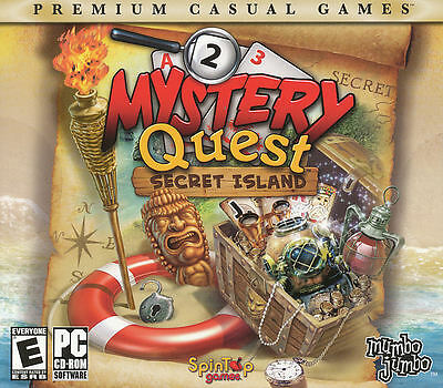 MYSTERY QUEST SECRET ISLAND - Puzzle Mystery Strategy PC Game - NEW!