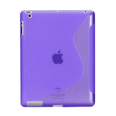 Purple Candy Skin S Case Soft Silicone Cover Back Protector for Apple iPad 4 3 2