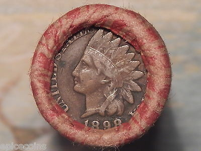 Wheat Cent Penny Roll ~Unsearched~ 1898 Indian Head/1903 IH Cent Coin Ends ID203