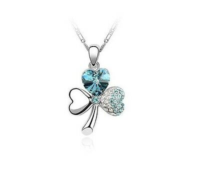 Free Shipping! Womens 9K White Gold Filled AAA CZ Necklace & Pendant Y-F598