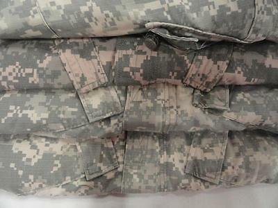 Lot of 4 Mens CAMOUFLAGE CAMO BDU Military Pants and Shirts Size Large SHORT