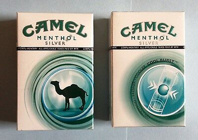 Vintage 2 packs Camel Menthol Silver cigarettes, introductory collectable sealed
