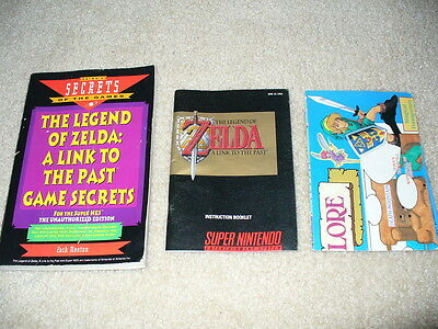 SNES The legend of Zelda A link to the past Instruction booklet, Secrets and MAP