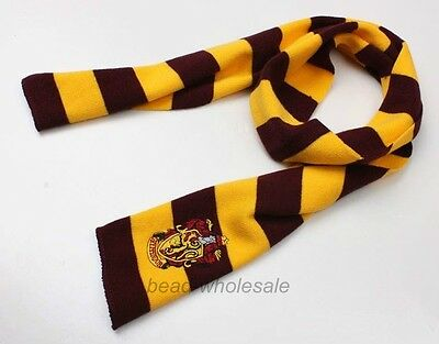 1Pc Harry Potter Red Yellow Gryffindor House Wool Scarf Costume Auction