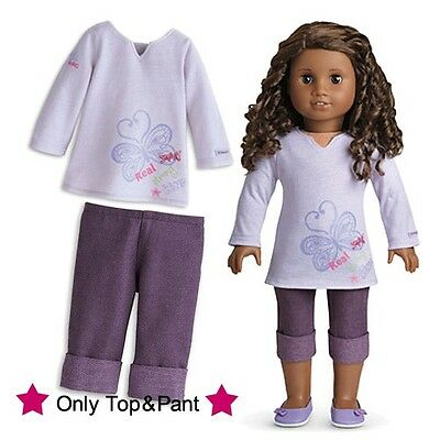 """18"""" Doll Clothes fit American Girl - Purple Real Me Outfit - Top+Shorts"""