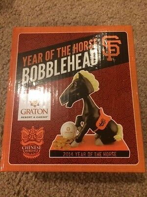 SF Giants Year of the Horse SGA Bobblehead 4/29 Chinese Heritage Night FREE SHIP