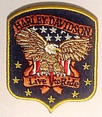 "Lot of 5 Vintage Harley Davidson Embroidered Cotton Patch 3""x 3"" Biker RARE!"