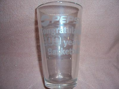 PEPSI COLA Kentucky Wildcats 100 Years Basketball PROMOTIONAL ETCHED GLASS