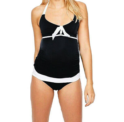 Maternity Pregnancy Black & White Swimming costume NEW Women's UK 8 10 12 14 16