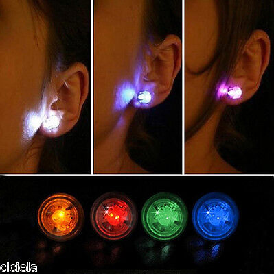 Fashion New Led Blinking Studs Earrings Accessories for Party/Festival 1Pcs