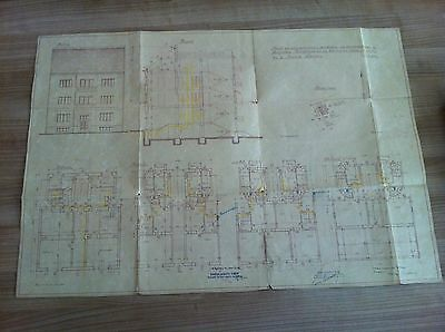 CROATIA- Original Plan- multi-storey residential building in Zagreb 1938 !!!