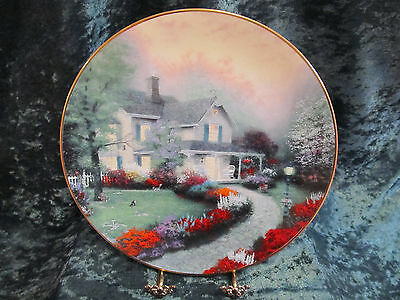 VTG THOMAS KINKADE COLLECTORS PLATE DISH KNOWELS FINE CHINA HOME SWEET HOME